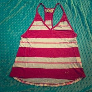 Hollister Girls Loose Cotton Tank Top Pink XS